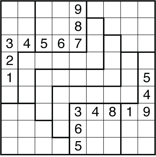 It is a photo of Gorgeous Irregular Sudoku Printable
