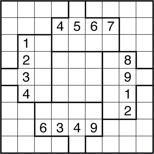Accomplished image in irregular sudoku printable